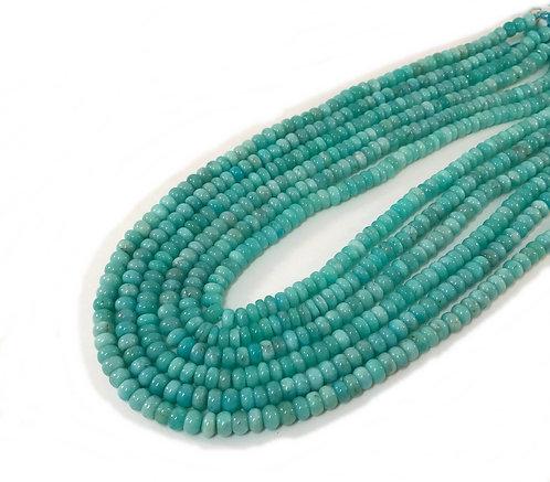 Amazonite 8mm Roundel Beads A+