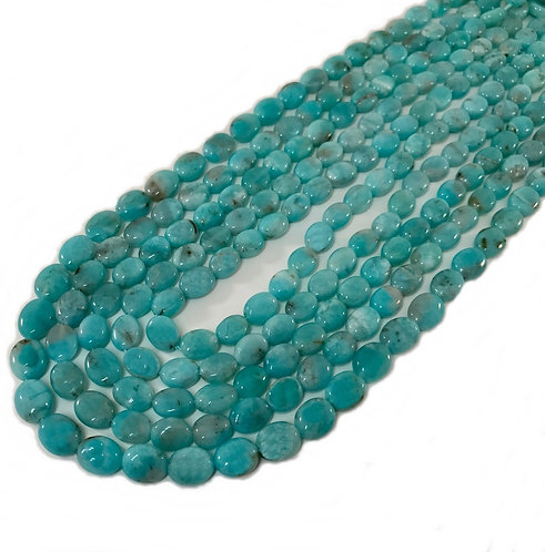 Amazonite Oval Beads 7x9mm A