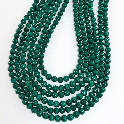 Malachite 6mm Round Beads 2A