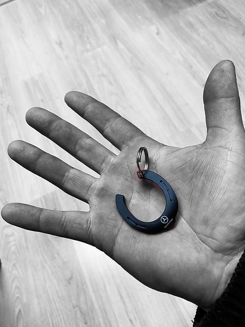 Fer porte clé noire  avec inscription à choix