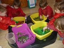 child group work at abacus nursery in ilkley