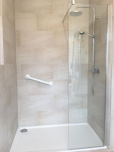 shower installation and tiling