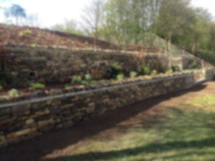 landscape gardener retaining drystone wall ilkley