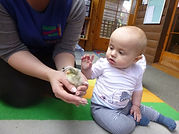 baby interaction at abacus pre school nursery in ilkley