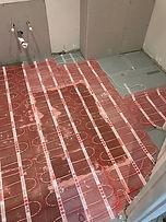 underfloor heating installation 1