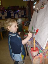 painting at abacus pre school ilkley