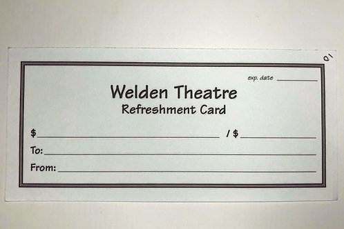 Refreshment Card