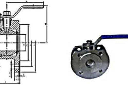 Межфланцевый шаровый кран W11F PN16