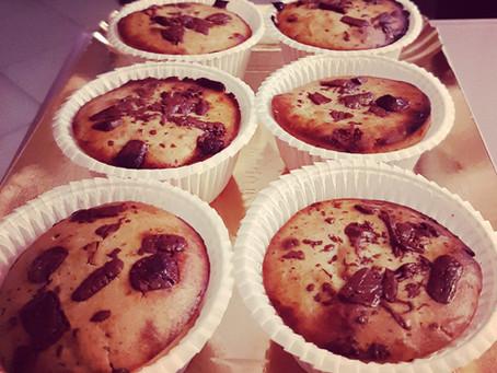 Muffin banana e cioccolato gluten free
