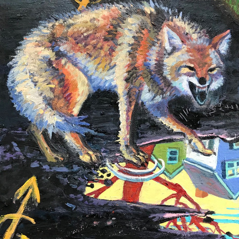 Laughing Coyote | 2020 oil