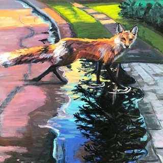 Fox and Tall Pine | 2020 oil