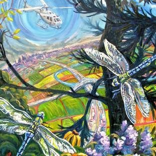 Dragon Flies   oil on canvas 2016