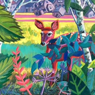 Deer at Edge of Woods | 2020 oil