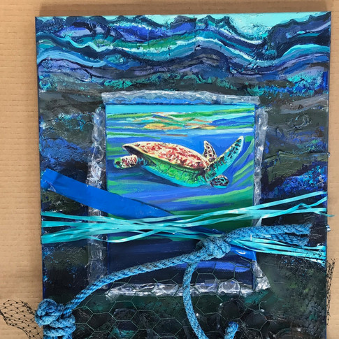 Sea Turtle | 2019 mixed media