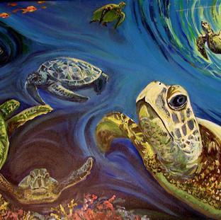 Sea Turtles   2012 SOLD