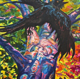 Crow in Tree | 2017