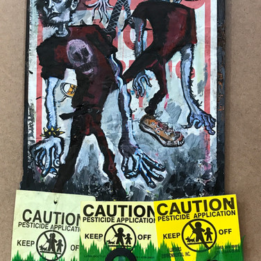 Tow Zone, with Pesticides | 2017 mixed media
