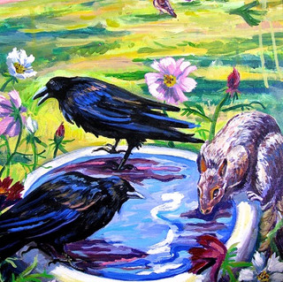 Crows and Squirrel | 2016