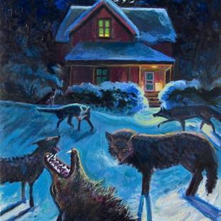 Coyotes at Night   2017