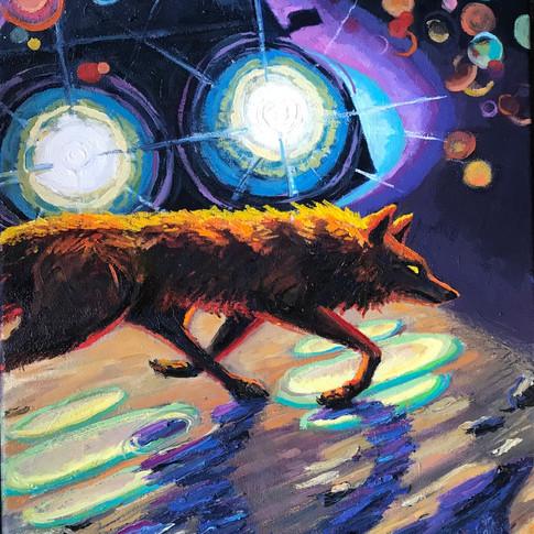 Coyote Path Study | 2021 oil