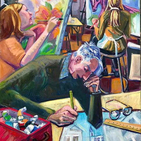 Painting Studio, MFA, Boston | 2018 acrylic