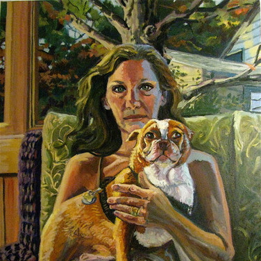 Self portrait with Henry, Study in Brown | 2014