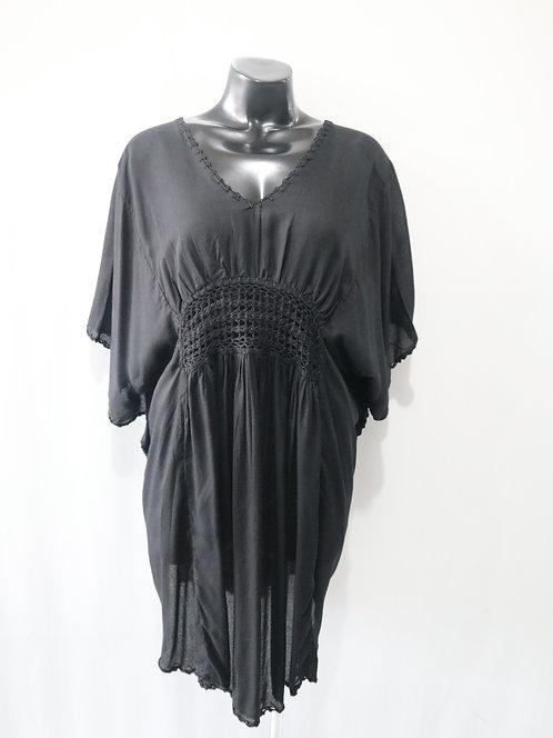 Women Resort Wear Clothing Plus Size 2020 - CROCHETTOP Black