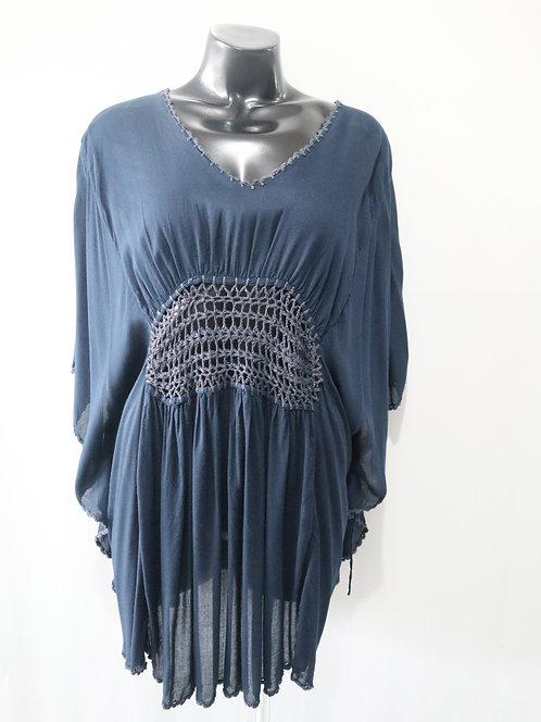 Women Resort Wear Clothing Plus Size 2020 - CROCHETTOP Navy