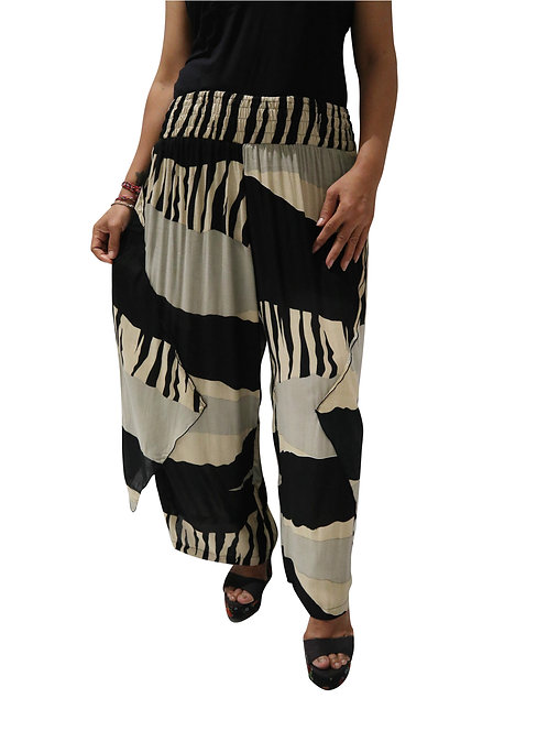 Women Resort Wear Lifestyle Pants  2020 - P3213A Abstrak Print