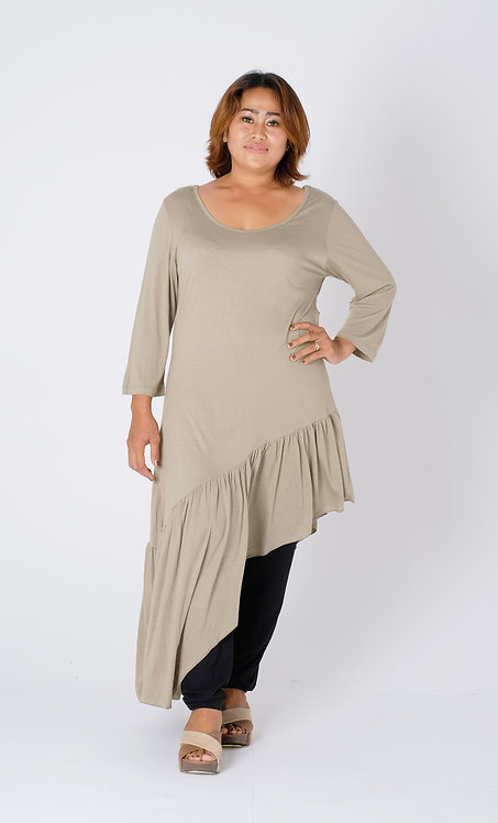 Women Resort Wear Clothing 2020 -  T11605B Khaki
