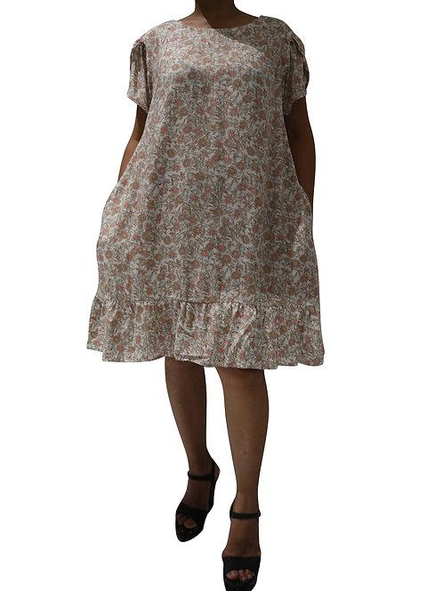 Women Resort Wear Clothing 2020 - T11797 Peach Print