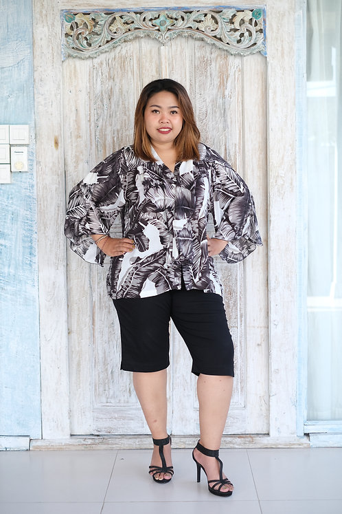 Women Resort Wear Clothing 2020 - T11790 Banana Black Leaf