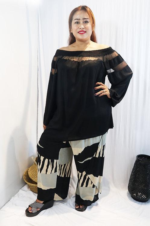 Women Resort Wear Clothing 2020 - T11791 Black Plain