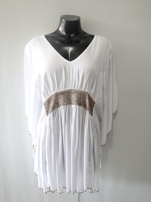 Women Resort Wear Clothing 2020 - BBPONCHO White/Gold