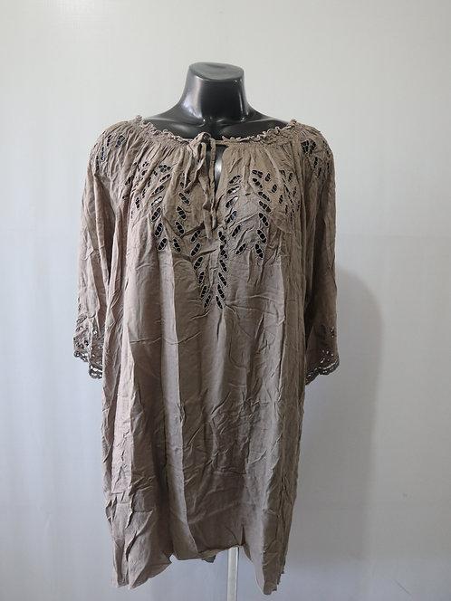 RL027 DRESS - Mocha Plain - Rayon Voile