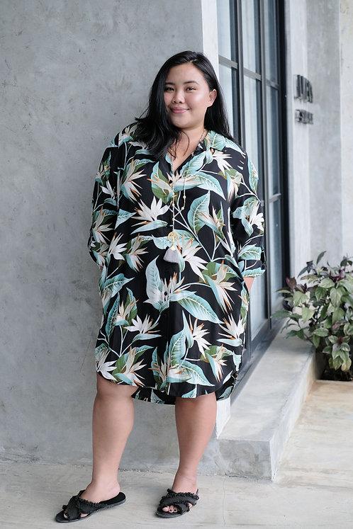 Women Resort Wear Clothing 2020 - 31009 Green Leaf Print