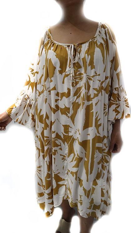 Women Resort Wear Clothing 2020 - D4611 Yellow Strom
