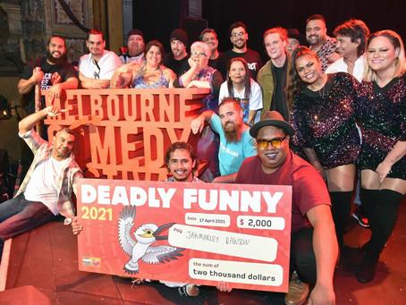 Jahmarley Dawson wins Deadly Funny National Grand Final