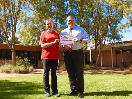 Vicky Crowley walked 936,872 steps in Alice Springs