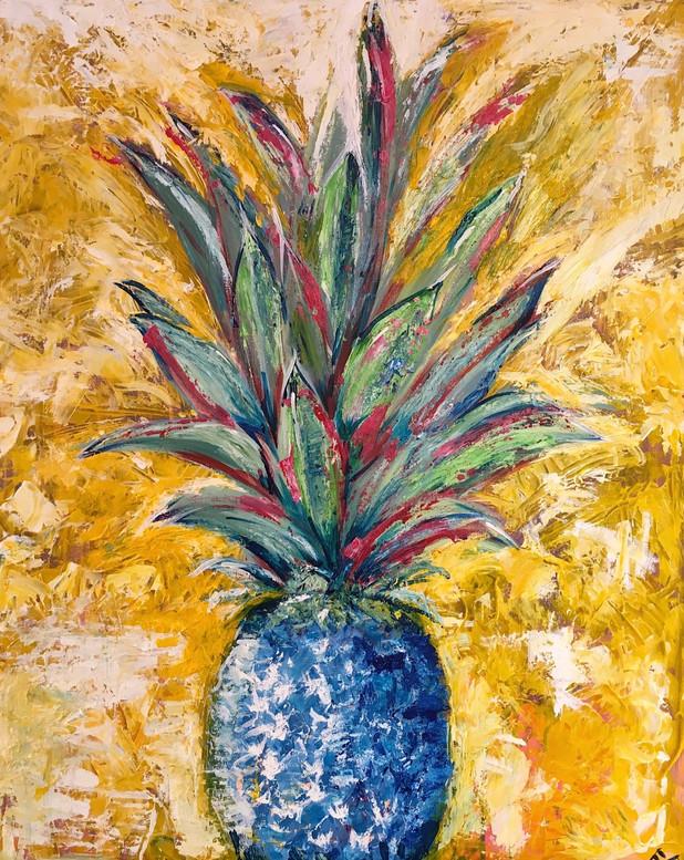 Blue Pineapple - pallet knife