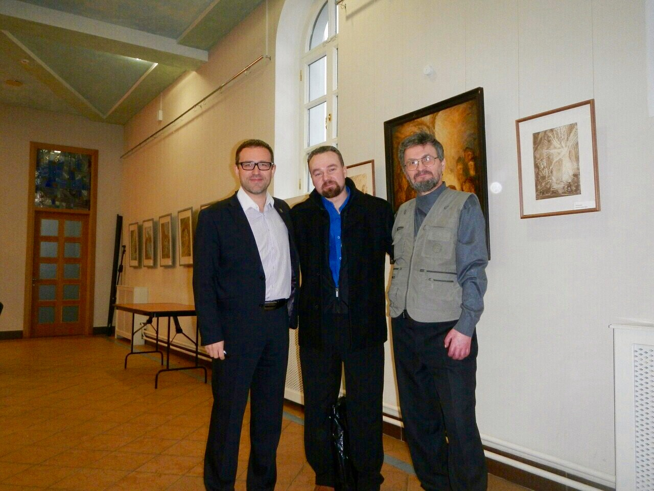 Открытие выставки А.Блинова