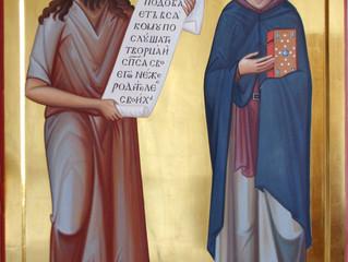 Молебен  перед  иконой Иоанна Кущника и Алексия человека Божия