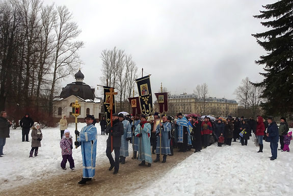 Крестный ход православных трезвенников