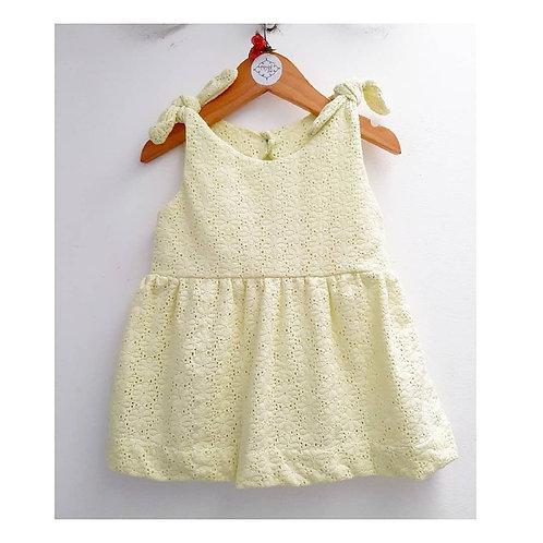 Vestido laise limão + calcinha