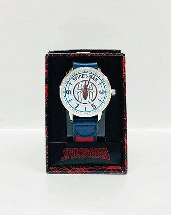 SPIDER MAN - Reloj con correa de cuero graduable ACCUTIME