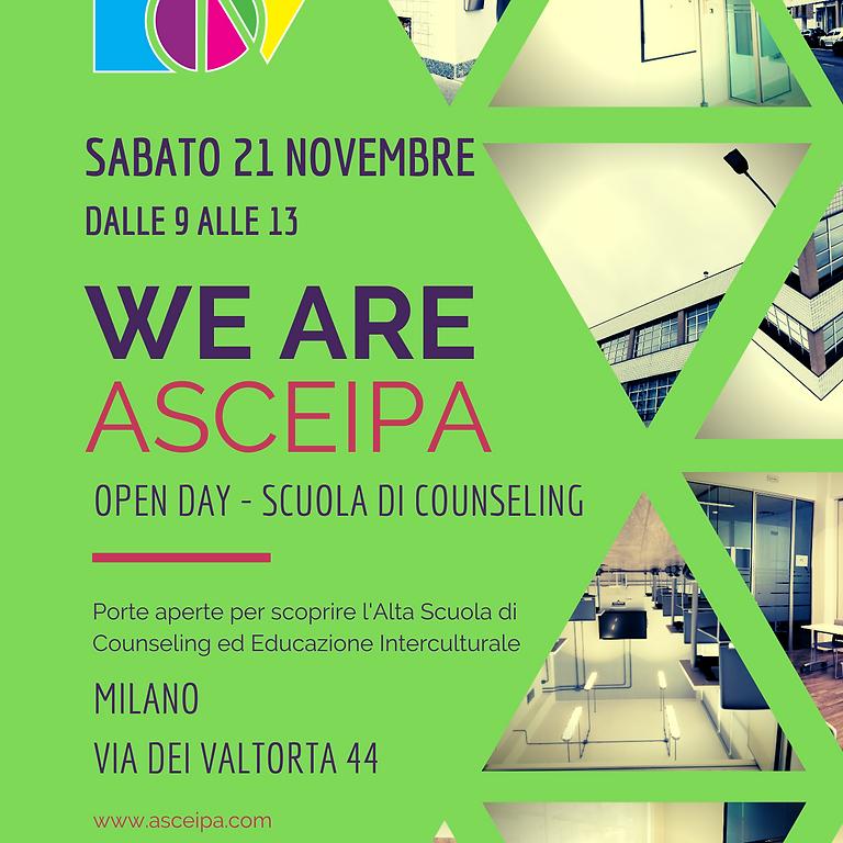 Open Day - WE ARE ASCEIPA 21 Novembre 2020