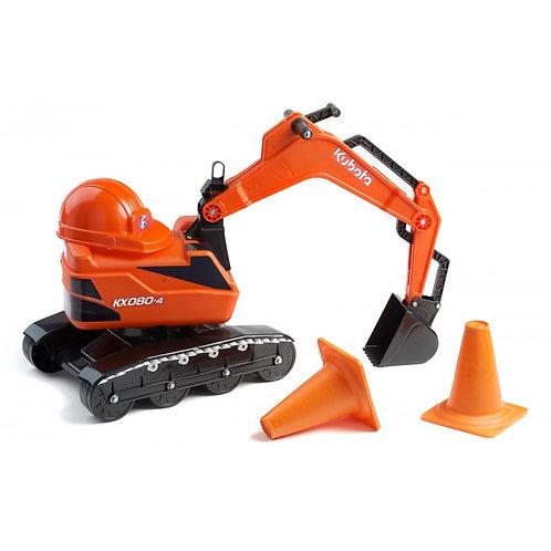 Escavatore KUBOTA KX080-4 Cavalcabile + Casco + 2 Coni per traffico