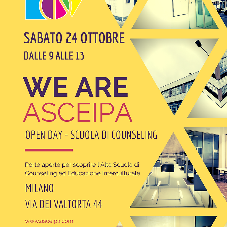 Open Day - WE ARE ASCEIPA 24 ottobre 2020