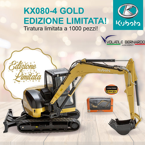 Kubota Kx080-4 GOLD ''Limited Edition''' Modellino