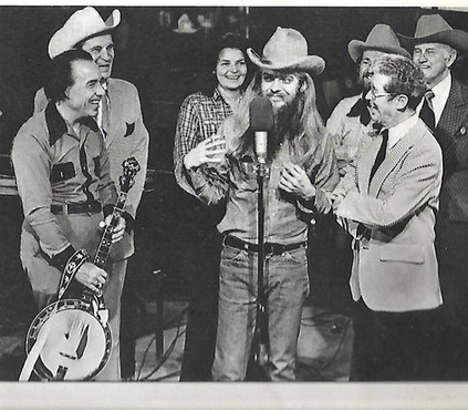 Leon, Earl Scruggs, Ernest Tubb, Jeannie Pruitt, Willie Nelson, Roy Acuff, and Bill Monroe
